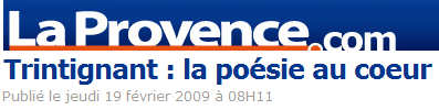 La Provence du 19 février 2009