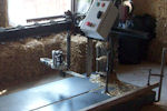 Machine prototype pour découper les ballots de paille