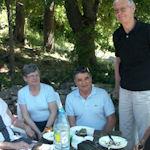 Inauguration maison bio-climatique, quelques Venellois au pique-nique